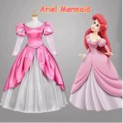 Ariel The Little Mermaid Princess Character Pink Costume Adult Custom Design