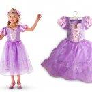 Rapunzel Princess Character Dress Costume CHILD /KID  (3T,4T,5- 10)