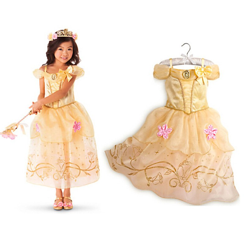 Cinderella Princess Character Dress Child 3t 4t 5 6 7: Belle Princess Character Dress Costume CHILD /KID (3T,4T,5