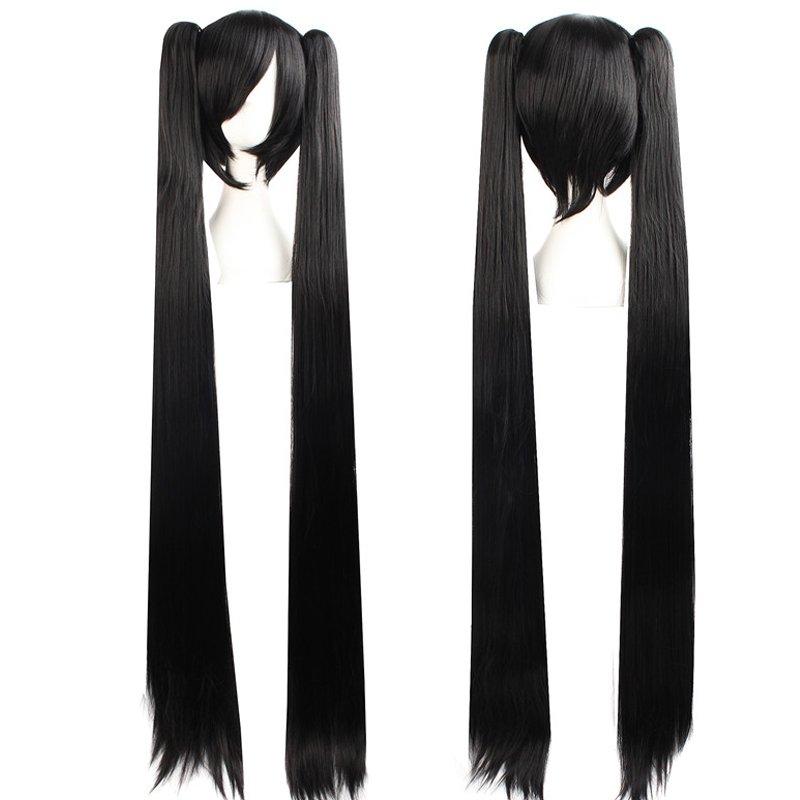 Cosplay Extra Long Black Anime costume Accessory Female HALLOWEEN