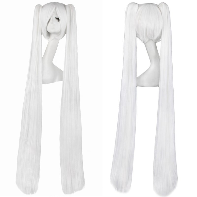 Cosplay Extra Long White Anime costume Accessory Female HALLOWEEN