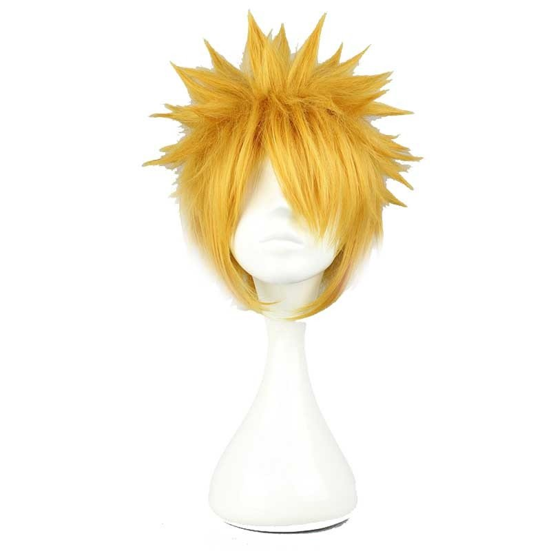 Men Short Anime Cosplay Wig plus cap costume Accessory Male HALLOWEEN 4 Colors