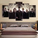 Harry Potter Character Role Movie Canvas HD Wall Decor 5PC Framed oil Painting