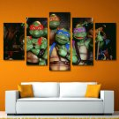 Teenage Mutant Ninja Turtles Movie Framed 5pc Oil Painting Art HD Wall Decor