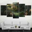Lord of the Rings castle 5pc Wall Decor Framed Oil Painting HD art