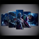 Guardian of the Galaxy Group Disney Movie Canvas HD Wall Decor 5PC Framed oil Painting
