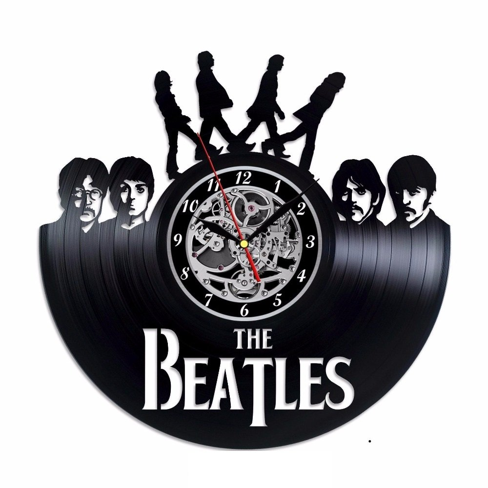 The Beatles vinyl record theme wall clock Vintage Decor Music Group