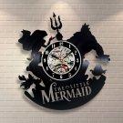 The Little Mermaid Ariel vinyl record theme wall clock Vintage Decor