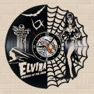 Elvira Mistress of the dark vinyl record theme wall clock Vintage Decor Horror