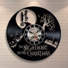 Nightmare before Christmas vinyl record theme wall clock Vintage Decor
