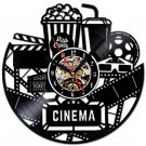 Hollywood cinema Movie theater vinyl record theme wall clock Vintage Decor
