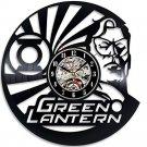 Green Lantern Superhero vinyl record theme wall clock Vintage Decor Room Decor