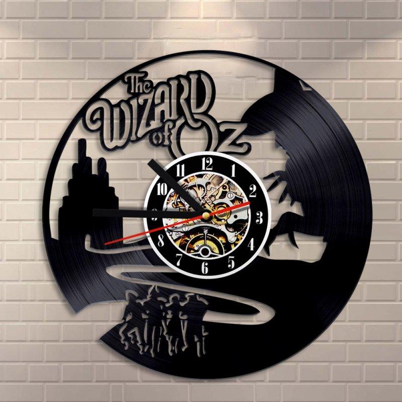 Wizard of Oz vinyl record theme wall clock Vintage Classic Room Decor