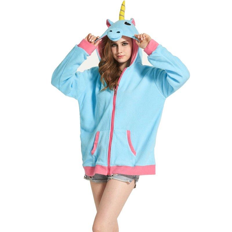 Unicorn Hoodie Sweater Women Girls - Soft and Warm