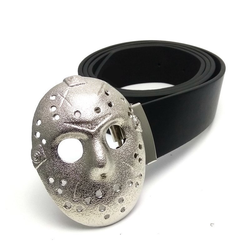 Jason Voohres Friday the 13th Men's Horror fashion belt and buckle -Black
