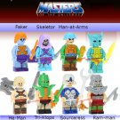 Masters of the Universe 8pc Mini Figures Building Blocks Minifigures He-Man