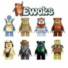 Star Wars EWOKS 8pc Mini Figures Building Blocks Minifigures