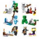 Minecraft Gaming 6pc Mini Figures Building Blocks Minifigures Steve Creeper Ederman