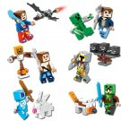 Minecraft Mini figures Gaming 6pc  Building Blocks Minifigures set Steve Creeper Ederman