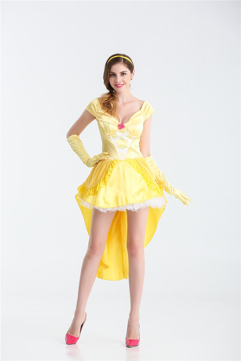 Beauty and the Beast Belle Princess New Sexy Women Adult Halloween Costume Dress
