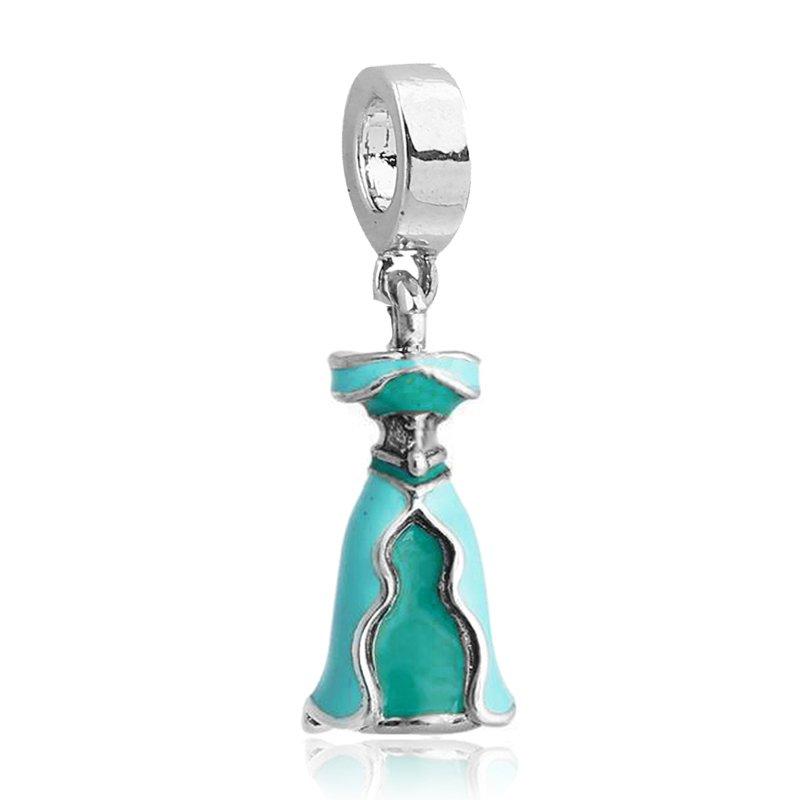 Princess Jasmine Dress Silver Pendant Charm for Pandora Bracelet