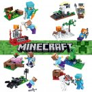 Minecraft Gaming 8pc Mini Figures Building Blocks Minifigures set 4 Steve Creeper Ederman