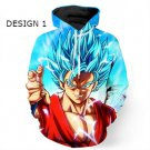 Dragon Ball Z Super Saiyan Design Mens Hooded Sweatshirt Hip Hop Style