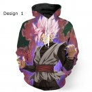 Dragon Ball Z Super Saiyan Design Mens Hooded Sweatshirt Hip Hop Style Casual