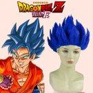 Dragon Ball Z: Resurrection 'F' Son Goku Kakarotto Saiyan God Royal Blue Cosplay Wig