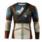 Captain America Superhero Long Sleeve Compressed Shirt