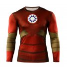 Iron Man Superhero Compressed Long Sleeve Shirt Marvel DC