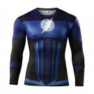 Flash Superhero Compressed Long Sleeve Shirt Marvel DC - BLUE