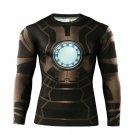 Iron Man Superhero Compressed Long Sleeve Shirt Marvel DC