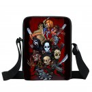 Horror Film Fans Movie Characters Cartoon illustrated Messenger School Bag