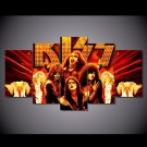 KISS Music Band Canvas HD Wall Decor 5PC Framed oil Painting Room Art