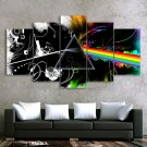 Pink Floyd Music Band Canvas HD Wall Decor 5PC Framed oil Painting Room Art