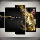 Michael Jackson Music Artist Canvas HD Wall Decor 5PC Framed oil Painting Room Art