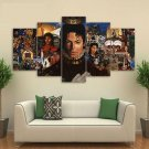 Michael Jackson Icon Music Artist Canvas HD Wall Decor 5PC Framed oil Painting Room Art SALE