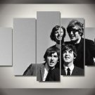 The Beatles Music Band Canvas HD Wall Decor 5PC Framed oil Painting Room Art