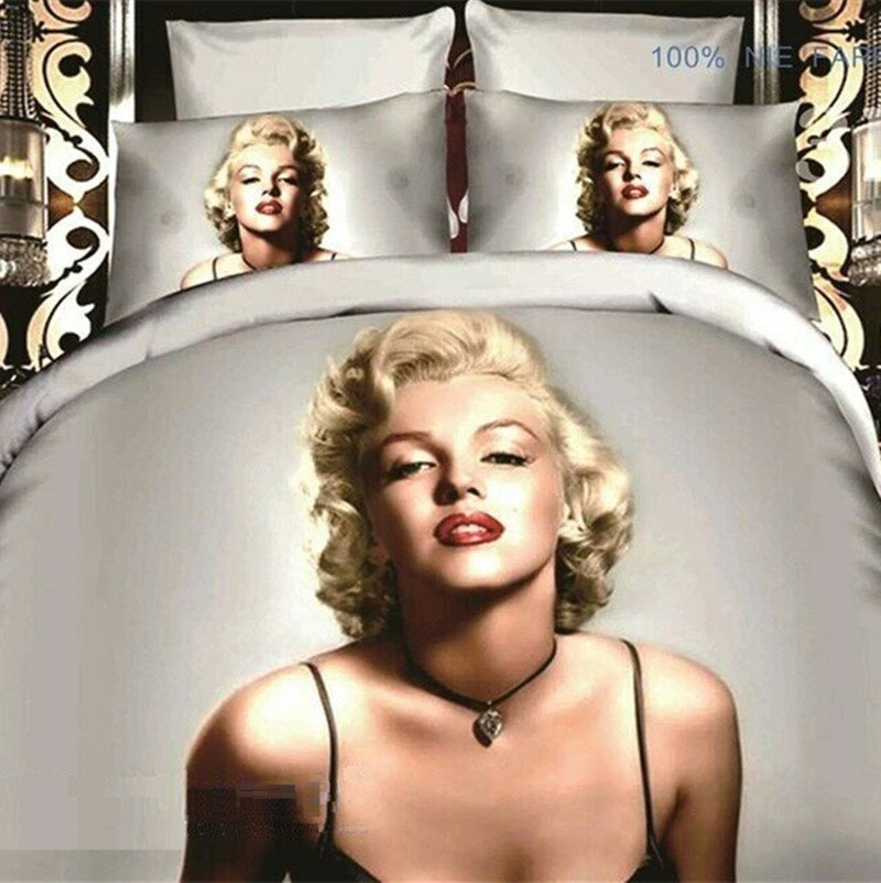 Marilyn Monroe Icon 4pc Bedding Cover Set - Queen Size- SALE & FREE SHIP