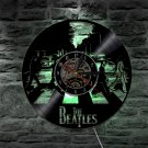 The Beatles Band vintage vinyl record theme wall clock Zebra Music Decor with LED Light