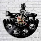 The Beatles Band vintage vinyl record theme wall clock yellow submarine Decor