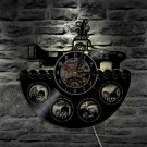 The Beatles Band vintage vinyl record theme wall clock yellow submarine Decor with LED Lights