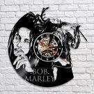 Bob Marley Reggae vintage vinyl record theme wall clock  Decor Music Artist