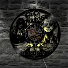 Bon Jovi  vintage vinyl record theme wall clock Rock Music Artist Home  with LED Lights