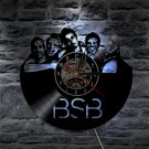 Backstreet Boys Group vintage vinyl record theme wall clock Music Artist Decor With LED Lights