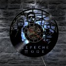 Depeche Mode Group vintage vinyl record theme wall clock Music Artist Home Decor with LED Lights