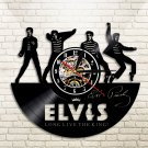 The King Elvis Presley Jailhouse vintage vinyl record theme wall clock Music Artist Home Decor