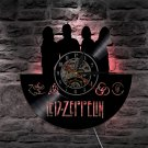 LED ZEPPELIN vintage vinyl record theme wall clock Rock Music Artist Decor with LED Lights