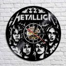Metallica Rock band vintage vinyl record theme wall clock Music Artist Home Decor